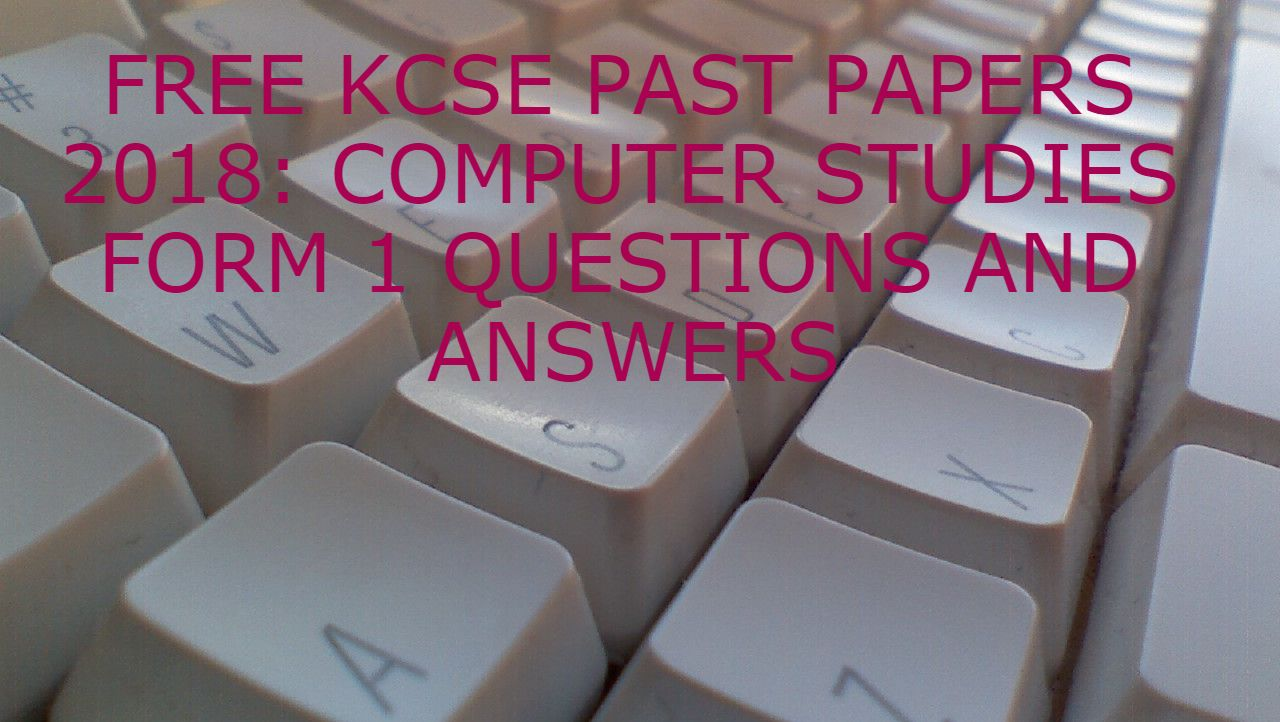 Atika School - Computer studies analysis of questions and