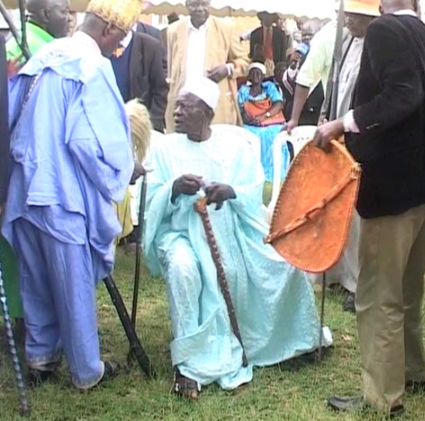 Luo council of elders in a function to choose their leader