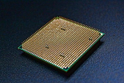 Bottom view of the CPU