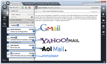 State two: functions of an email software; protocols used in sending and receiving of emails.
