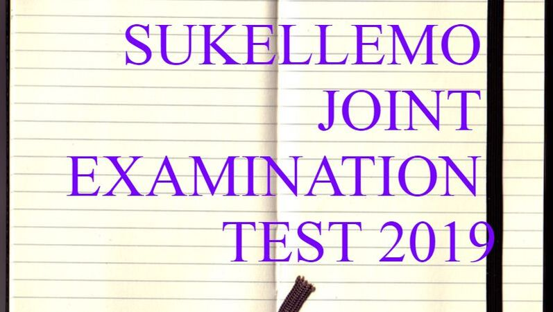 SUKELLEMO JOINT EXAMINATION TEST 2019