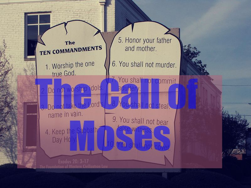the THE SINAI COVENANT - THE CALL OF MOSES (EXODUS 3:1-22)