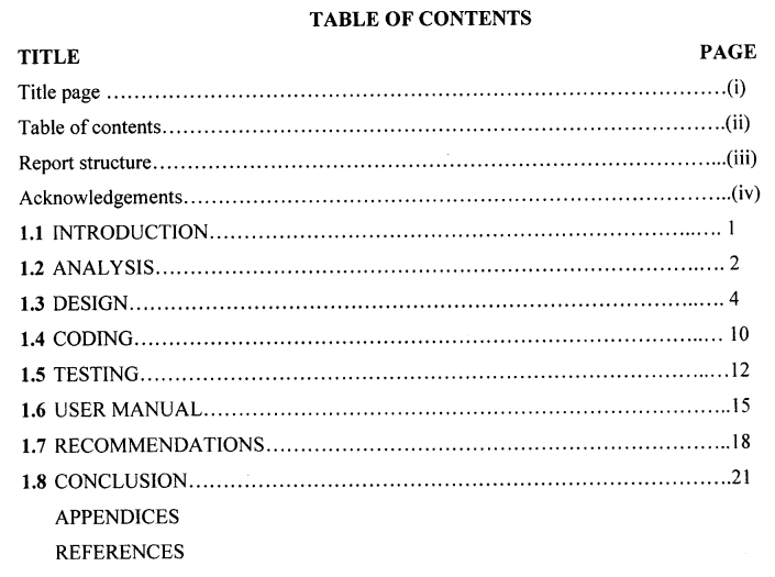 ​TABLE OF CONTENTS