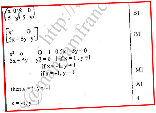 K.C.S.E Mathematics Q & A - MODEL 1998PP1QN07