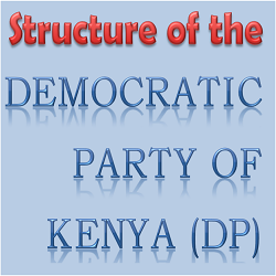 structure of the democratic Party of Kenya ( DP)