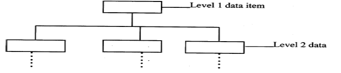 With the aid of a diagram, describe the Hierarchical Database Model.